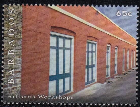 65c Artisan's Workshops | Synagogue Block restoration | Barbados Stamps