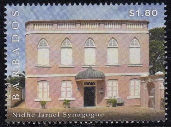 $1.80 Nidhe Isreal Synagogue Exterior | Synagogue Block restoration | Barbados Stamps
