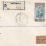 Inauguration of B.W.I University College Barbados FDC 1951 with pre printed inscription on left and Christ Church cancel