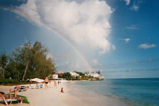 Rainbow over Rockley Beach, Barbados