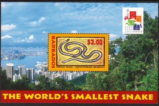 Barbados 2001 | Hong Kong 2001 Stamp Exhibition Souvenir Sheet