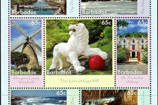 Seven Wonders of Barbados - 65c Mini Sheet - Barbados SGMS1411